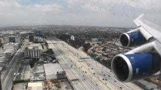 Jumbo Jet!!!  Beautiful HD 747-400 landing in Los Angeles California!!!