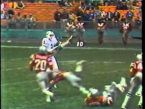 USFL 1983 CHICAGO BLITZ AT WASHINGTON FEDERALS