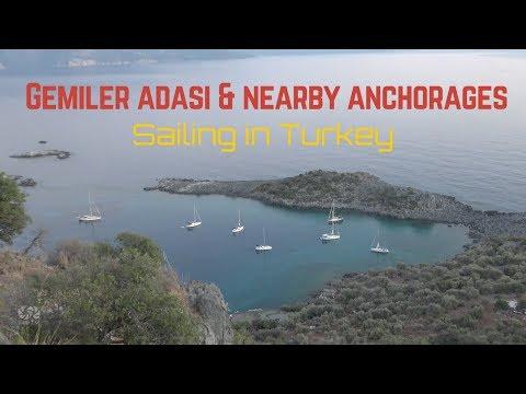 sailing in Turkey | Gemiler Adasi & nearby anchorages | bay | sea tv |
