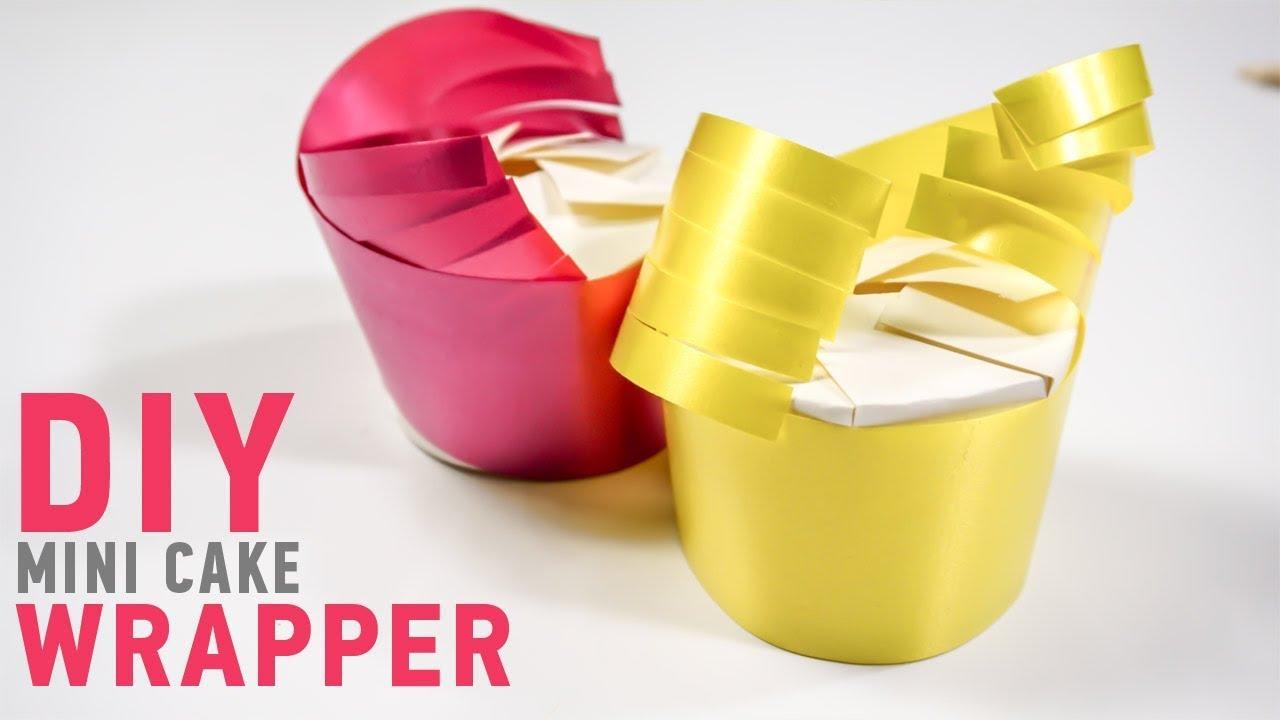 Wedding Cake Wrapping ideas: Easy Paper Cup DIY | iDIYa #5 - YouTube
