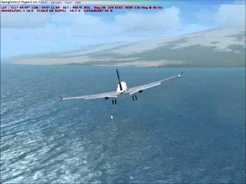 flight IY 626 crash landing in the Indian Ocean - How it should have gone -