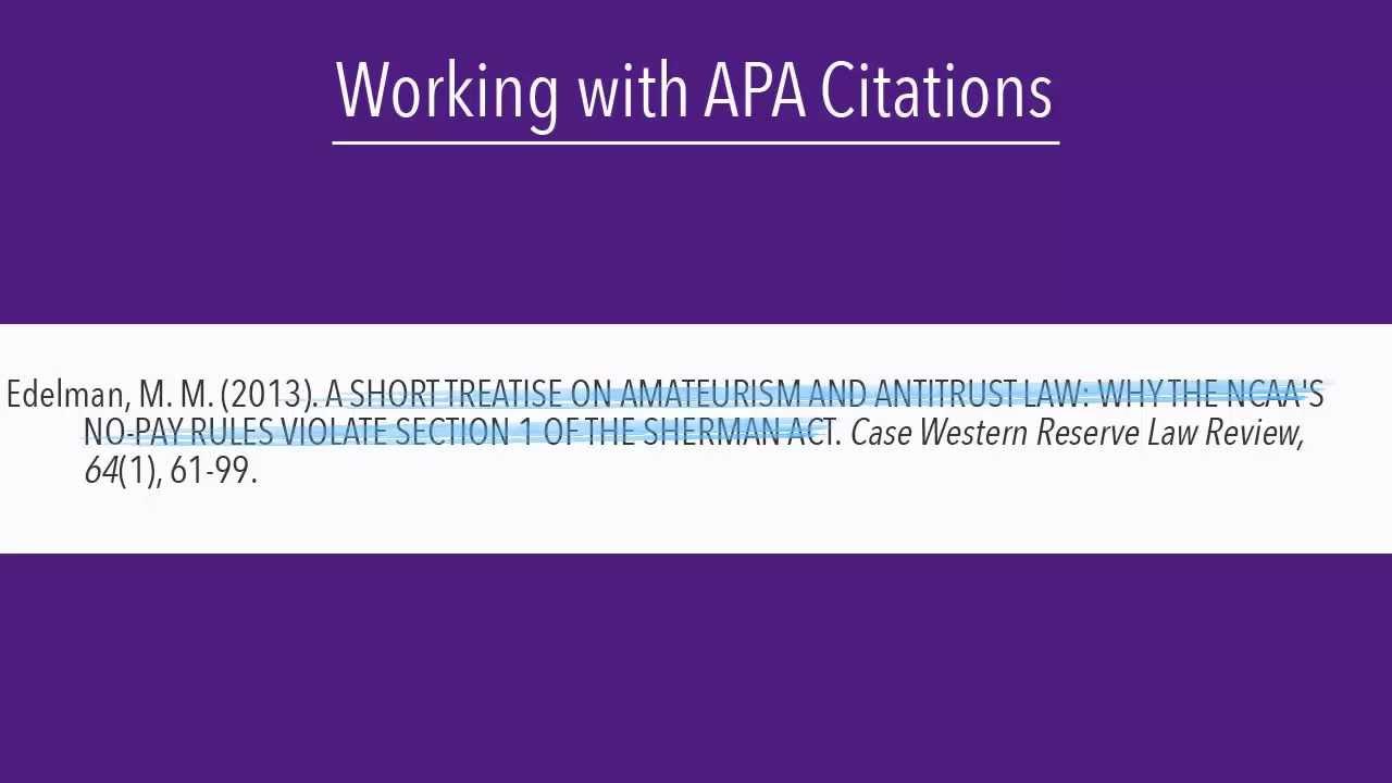 what is sentence case  formatting correct apa citations