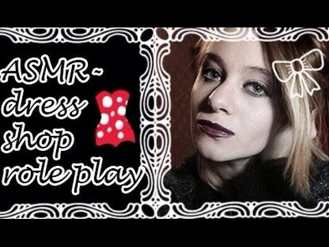 ASMR - Dress Shop Role Play - Fabric sounds, Soft Spoken etc