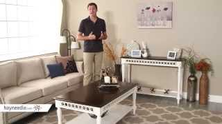 Belham Living Jocelyn Console Table - White/Walnut - Product Review Video