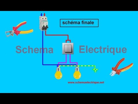 Schema branchement cablage double allumage youtube for Interrupteur legrand exterieur