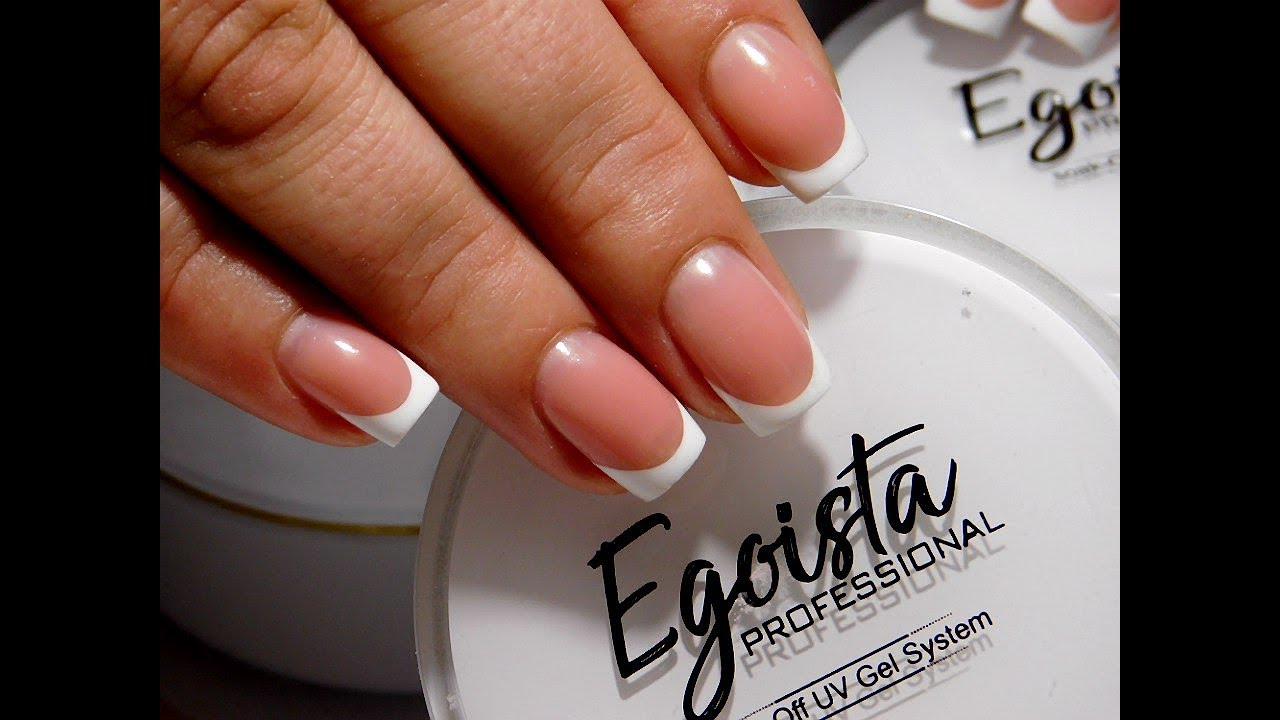 DYE Easy Classic French Manicure Tutorial| Builder Gel | Egoista ...