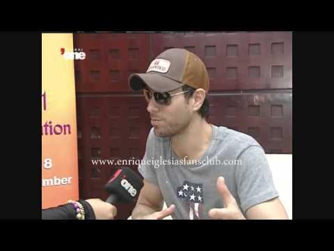 ENRIQUE IGLESIAS interviews Dubai World Trade Center United Arab Emirates 26th October entrevistas