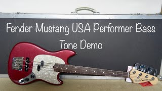 Fender USA Performer Mustang Bass | Tone Demo