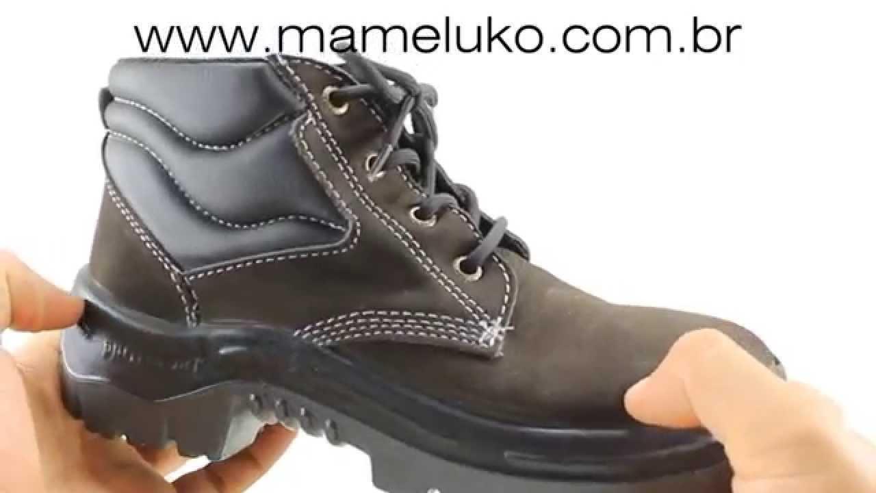 3e43154ff06a6 Bota Profissional Protefort com Bico de Termo Plastico Mameluko - YouTube