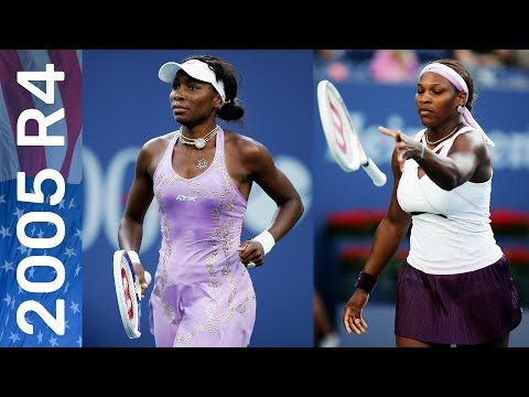 Venus Williams Vs Serena Williams In A Battle Of The Reigning Champions! | US Open 2005 Round 4