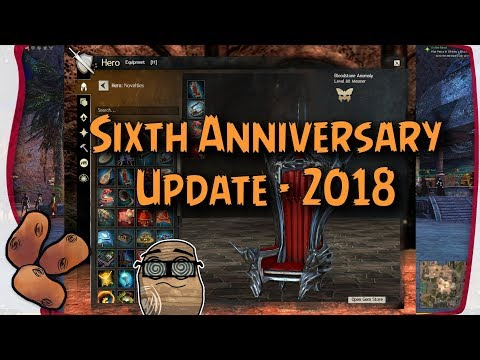 GW2 6th Anniversary Patch | Equippable Chairs & Headline