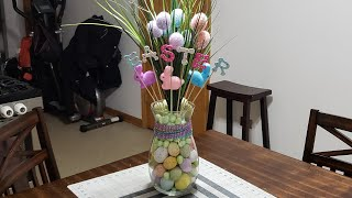 #eastercenterpiece #easter #dollartree  DIY Easter Centerpiece / Dollar Tree