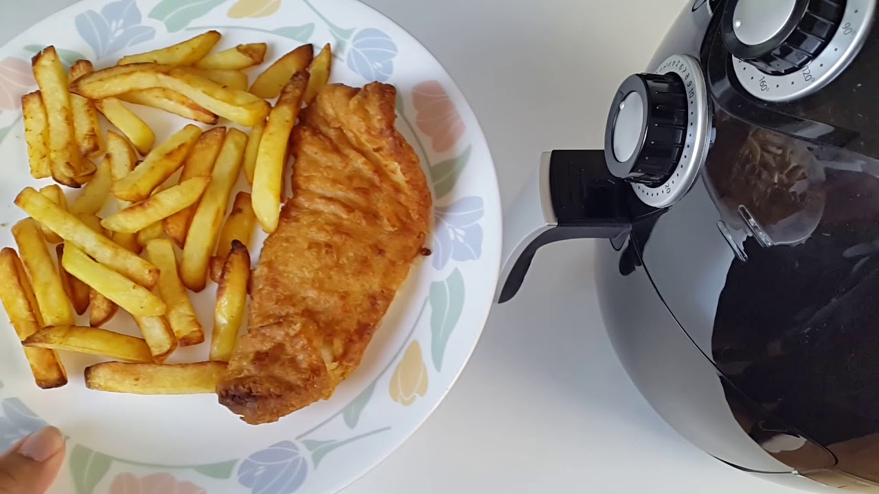 Air fryer cooking battered cod fish chips youtube for Air fryer fish and chips