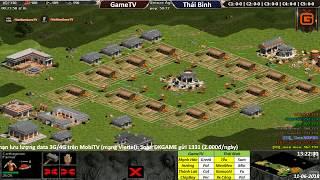 AOE | 4vs4 Random | GameTV vs Thái Bình | Ngày 11-06-2018