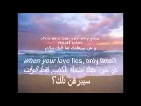 Enya - only time (English and arabic lyrics on screen) WITH DL