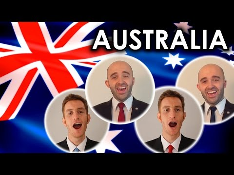 Advance Australia Fair National Anthem  A Cappella quartet