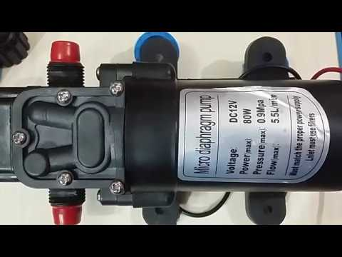 12v dc 80w diaphragm pump youtube 12v dc 80w diaphragm pump ccuart Choice Image