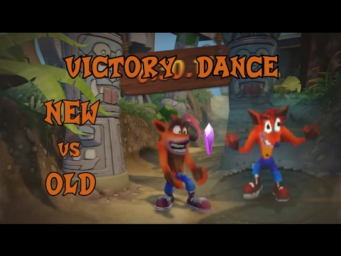 Crash Bandicoot - Victory dance |NEW VS OLD|