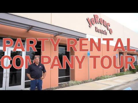 Party Rental Company Tour - JoRonCo Rentals