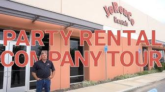 Party Rental Company Tour - JoRonCo Rentals
