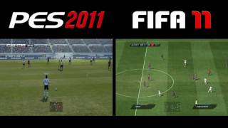 PES 2011 vs FIFA 11 - Gameplay Comparison - PC