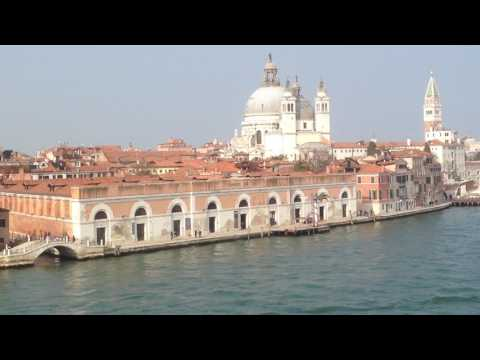 Venedig  - Hafenausfahrt  durch die Lagune - März 2017 mit der MS Berlin