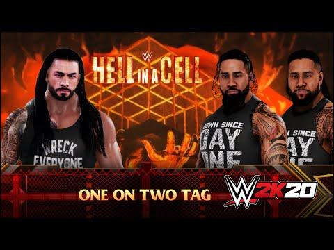 WWE 2K20 ROMAN REIGNS VS THE USOS 2 On 1 MATCH | WWE 2K20 GAMEPLAY !