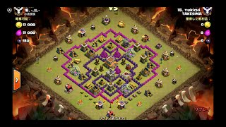 Clash of Clans Th8 Hog Rush34 3 star attack