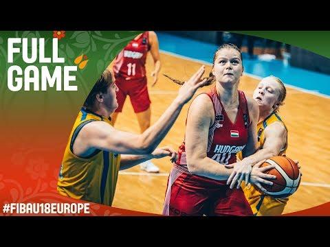 Sweden v Hungary - Full Game - Classification 5-8 - FIBA U18 Women's European Championship 2017