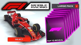 F1 Mobile Racing - MEGA PACK OPENING!!! EPIC & RARE ITEMS! & WE GET A NEW CAR!