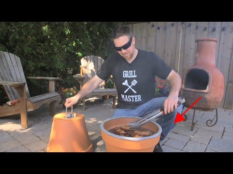 DIY Flower Pot Grill & Smoker - YouTube