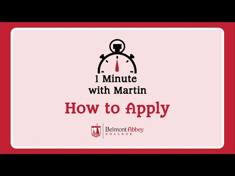 1 Minute with Martin: How to Apply