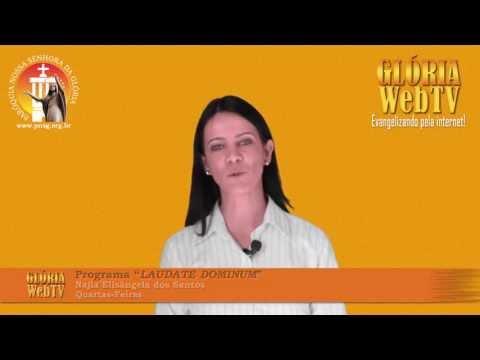 "Chamada Najla Elisângela dos Santos programa ""LAUDATE DOMINUM"""