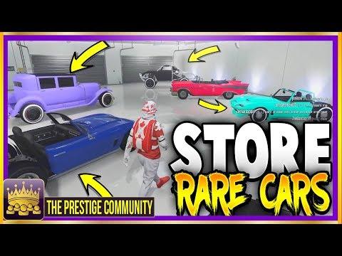 GTA 5 Online FREE SECRET RARE MODDED CARS! *STORE* 7 RARE MODDED VEHICLES! (Rare Cars Free Location)