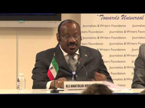 Equatorial Guinea's UN Permanent Representative Speaks at Peace Islands Institue Panel