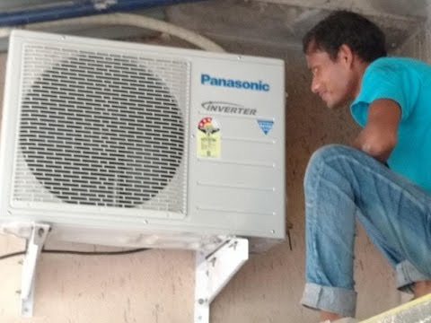 How To Install Split Ac Outdoor Unit Panasonic Us18sky 1
