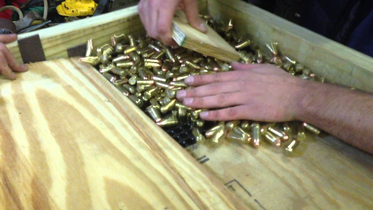 home made ammo tray packer