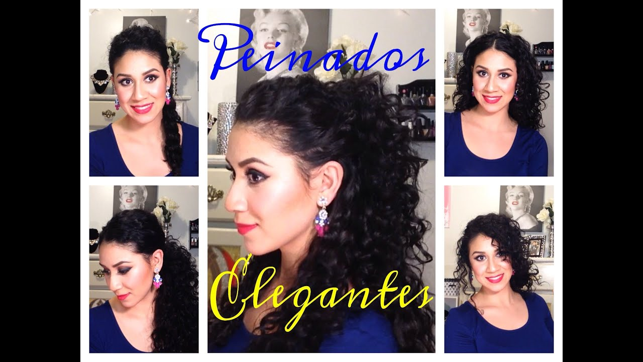 Peinados Faciles De Fiesta Para Cabello Rizado Youtube