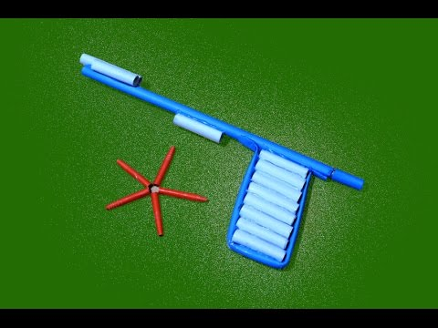 How to make a Amazing Paper Gun that Shoots Paper Bullets