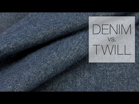 Comparing Denim & Twill Fabric