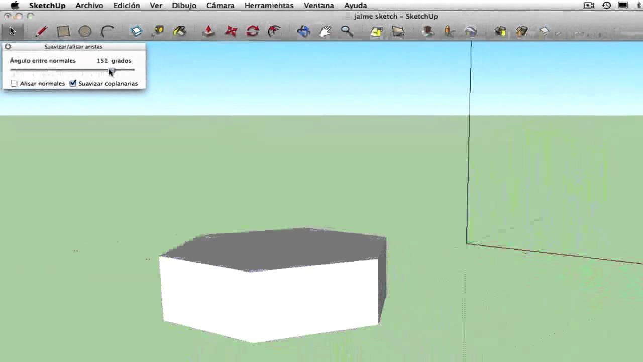 Como suavizar aristas de su modelo en Google Sketch up. - YouTube