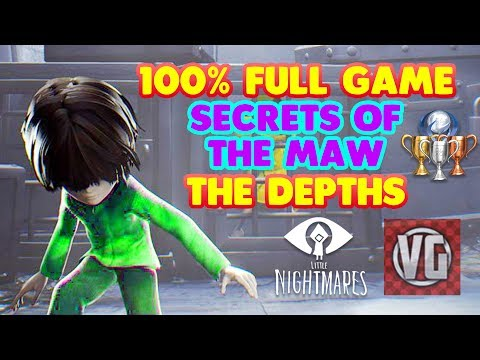 Little Nightmares THE DEPTHS 100% Full Game Walkthrough (All Bottles, Achievements and Trophies)