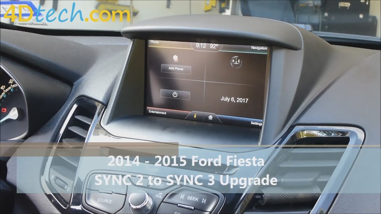 Sync 2 To Sync 3 Upgrade 2014 2015 Ford Fiesta Youtube