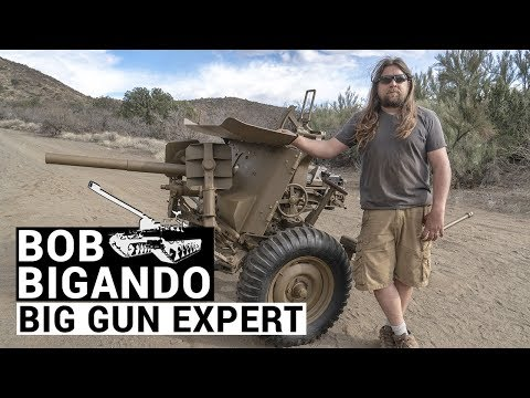 Test firing Bob Bigando's restored WW2 artillery gun