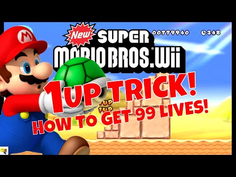 NEW SUPER MARIO BROS. Wii How To Get 99 Lives ! Trick Cheat Glitch