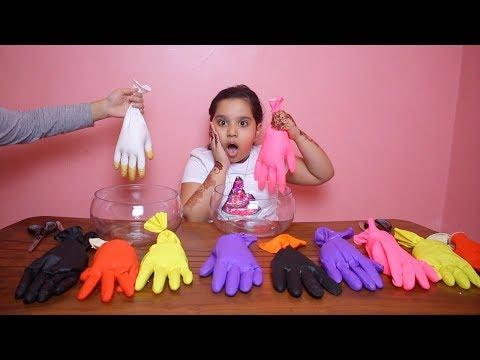 تحدي لا تختار قفاز السلايم الخاطئ !! ! Don't Choose the Wrong Glove Slime Challenge