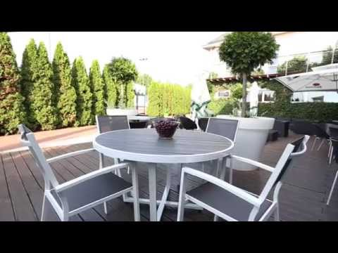Round aluminium dining garden set for 4 Toulouse
