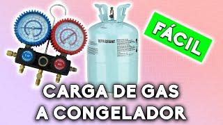 Carga de gas | Cambio de tubería a congelador parte 9