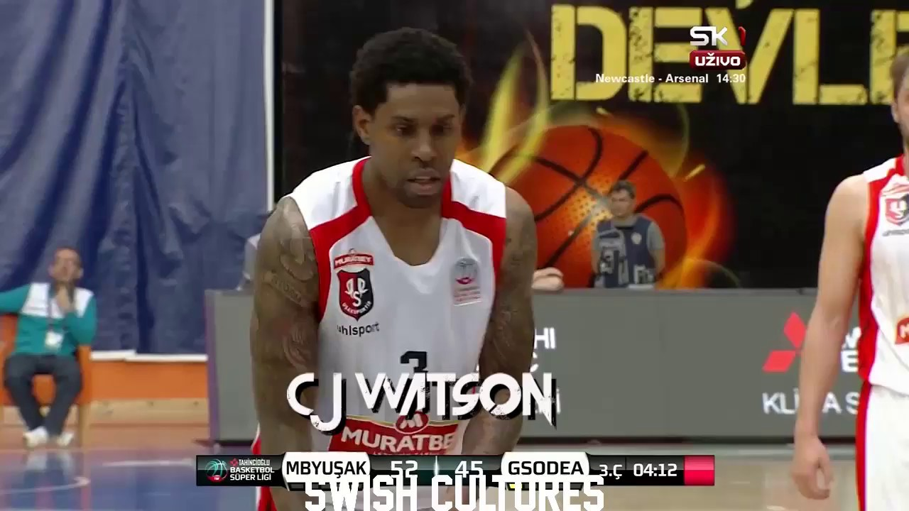 free shipping 8c74b e27ad CJ Watson Usak vs Galatasaray - Highlights | 21pts 6reb 7ast