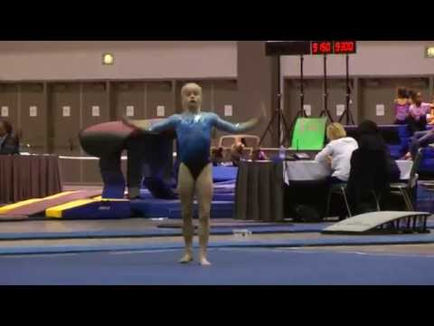 Abigail Walker Floor  2015 Elite Qualifier Los Angeles